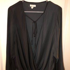 Black silky shirt